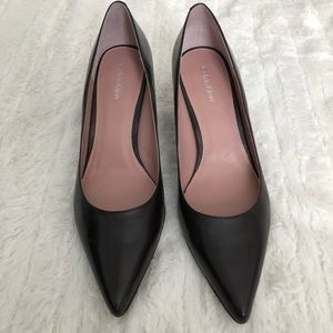 Calvin Klein Brown Leather Heels- Size 7.5